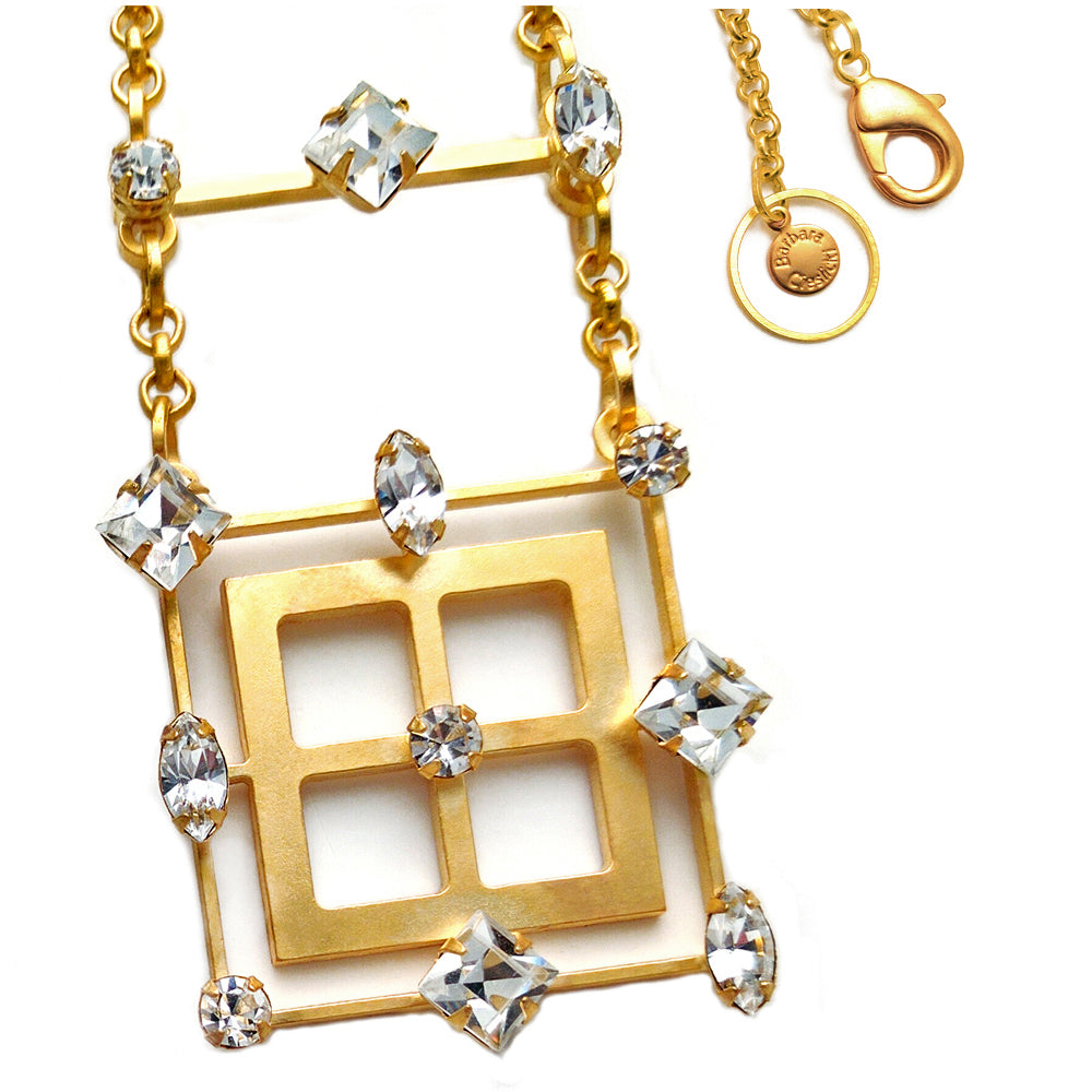 Gold Diamond Pendant by Barbara Cieslicki