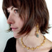Faceted Pyrite Necklace by Barbara Cieslicki