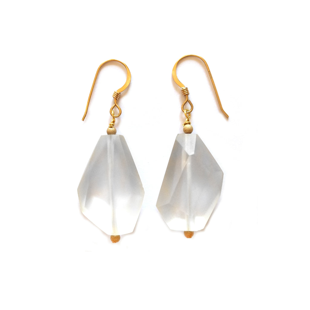 Faceted Quartz Earring by Barbara Cieslicki