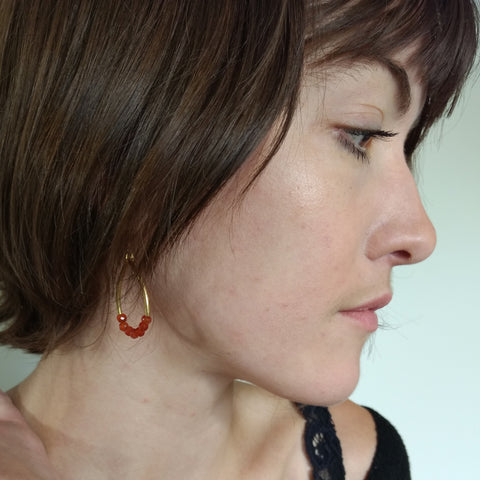 Carnelian Earring by Barbara Cieslicki
