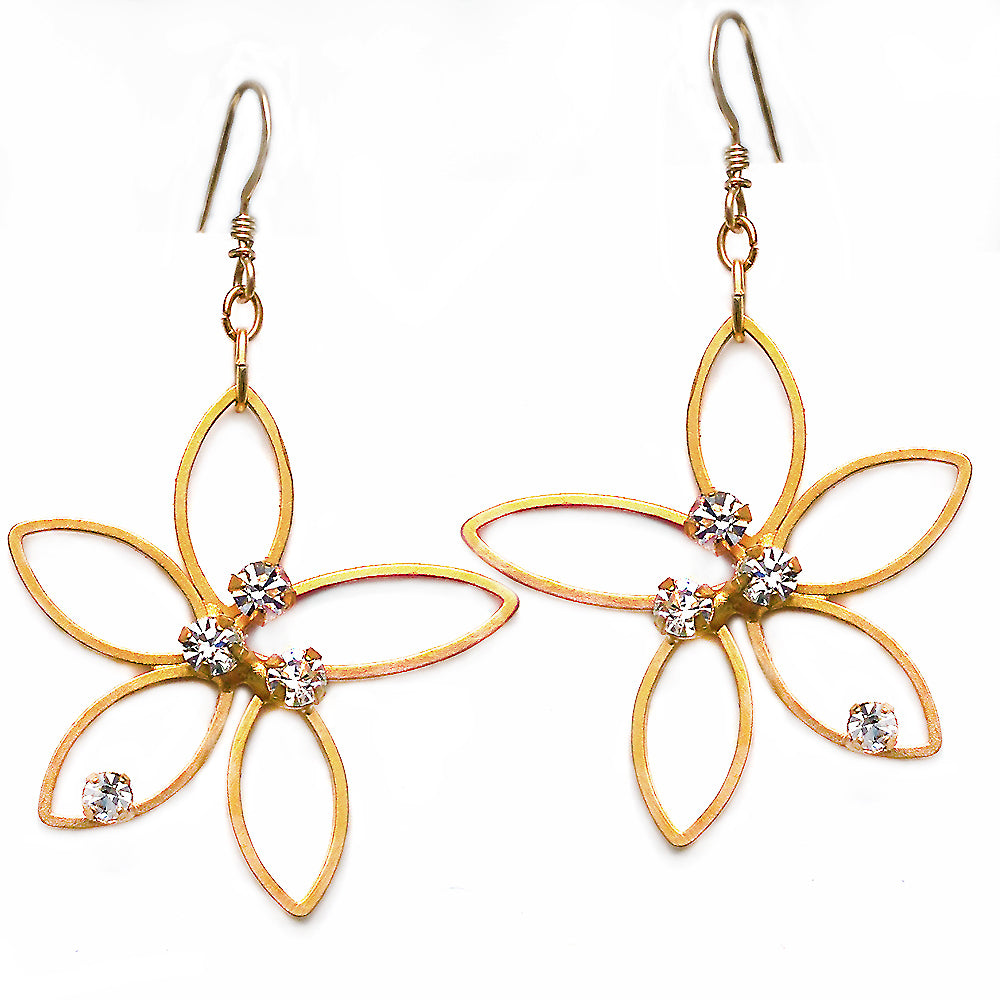 Gold Flower Earring by Barbara Cieslicki