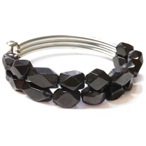 Black Spinel Bracelet by Barbara Cieslicki