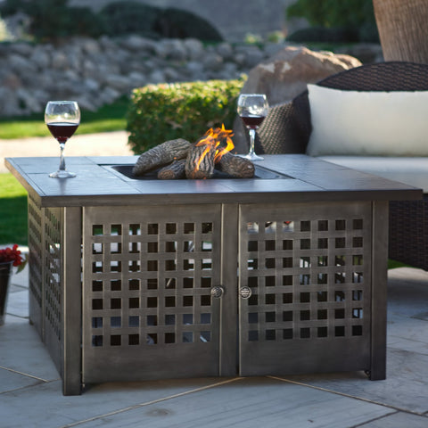 Uniflame Uniflame Propane Gas Fire Pit With Grey Slate Top