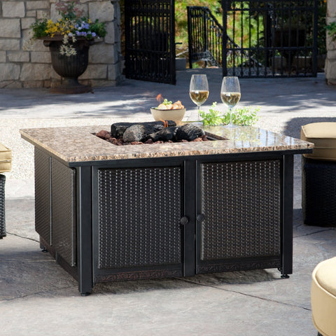 Uniflame Granite Table Propane Fire Pit