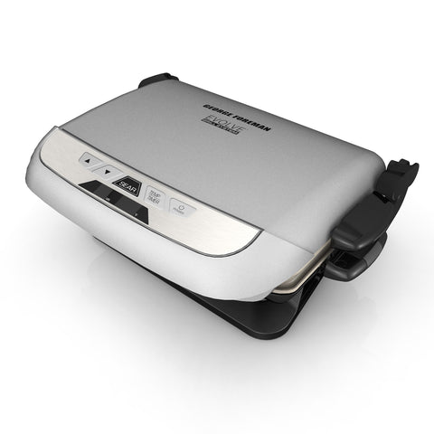 George Foreman 5-Serving Multi-Plate Evolve Grill With Griddle Plate - Silver