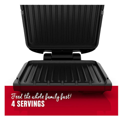 Image of George Foreman 4-Serving Removable Plate Grill and Panini Press