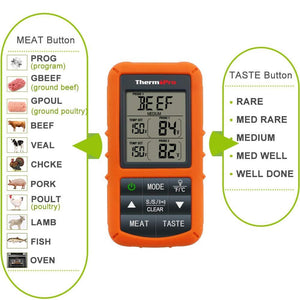 ThermoPro Wireless Remote Digital Cooking Thermometer with Dual Probe for Smoker Grill