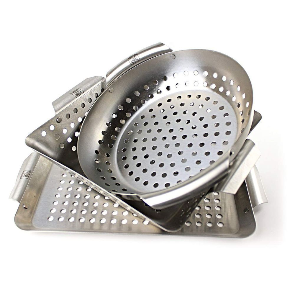 Heavy Duty Stainless Steel Professional Barbecue Grilling Baskets