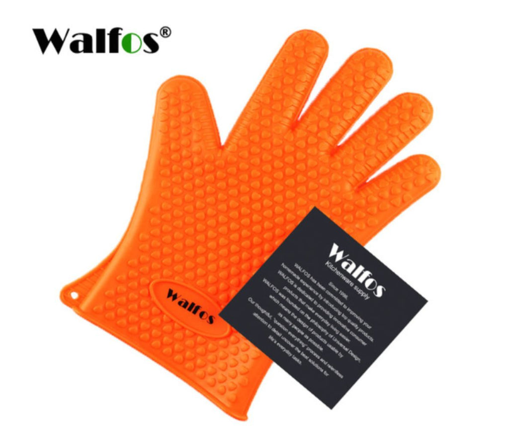 Heat Resistant Silicone Kitchen Grilling Gloves