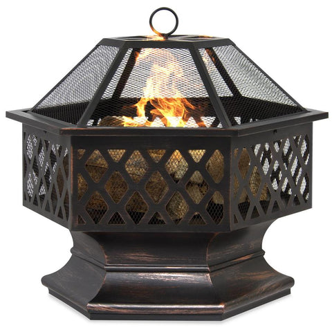 Outdoor Fire Bowl 24In. Bronze