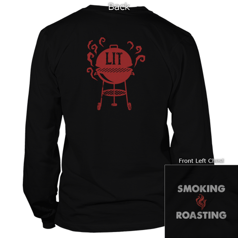 Grills Lit Back Design Apparel