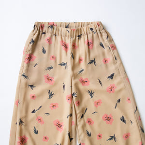 DRAWING FLOWER BELL PANTS