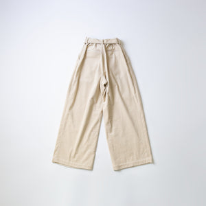 CORDUROY TUCK PANTS