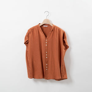 SHIRRING LINEN BLOUSE