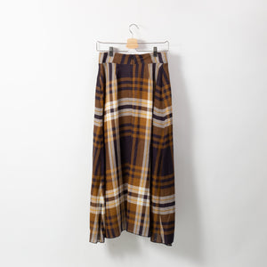 BIG CHECK FLARE SKIRT
