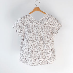 ORIGINAL FLOWER S/S BLOUSE