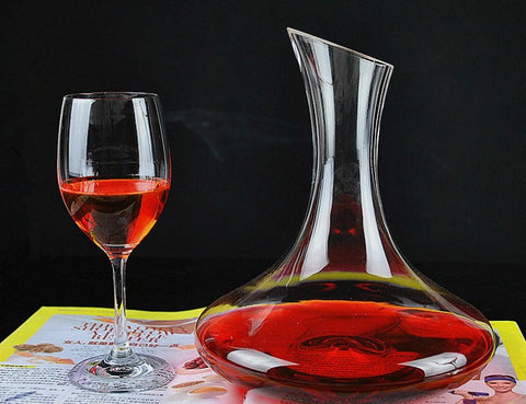 1500ml Unique Glass Wine Decanter / Carafe