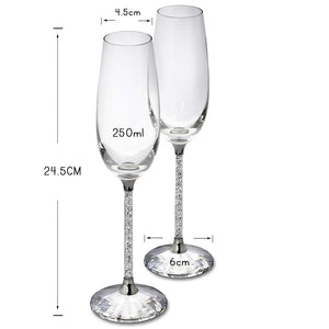 2pc Stunning Champagne Flutes for any special occasion.