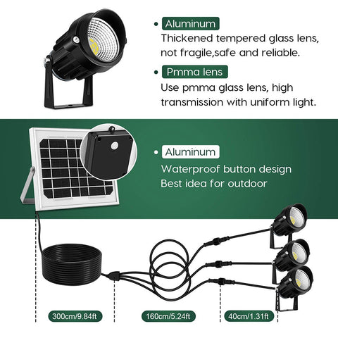 3 in 1 Outdoor Solar Powered LED Lights -  Outdoor Flood Lights For Your Home