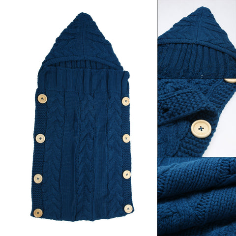 Warm Wool Knitted Baby Wrap or Sleeping Bag