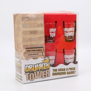 'Drunken Tower' Jenga Drinking Game -  Party Fun Game