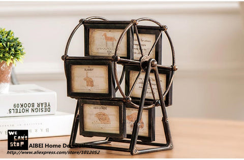 Large European Retro Style Windmill Rotating Photo Frame.