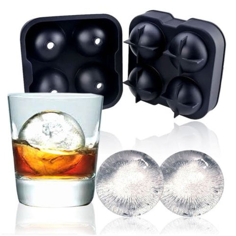 Round Sphere Ice Cube Tray / Silicone Mould for Drinks & Cocktails or can be used to cook Cakes and Puddings.