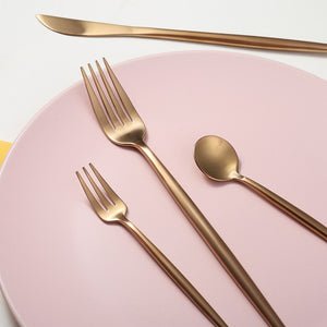 Stunning 30 Pc Rose Gold Stainless Steel Dinnerware For Your Next Dinner Party