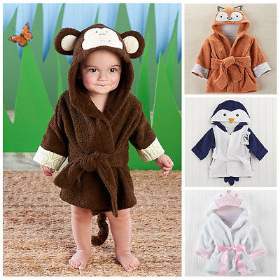 Very Cute Hooded Bath Towel Robe For Little Boys & Girls