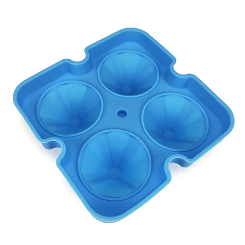 Diamond-Shaped Silicone Ice Cube Mould with Lids - Easy Release