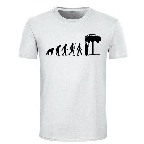 Image of Men's Evolution of Man to Auto Mechanic T-Shirt