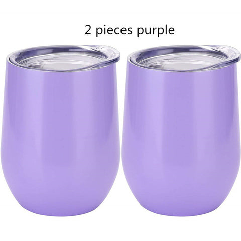 12 oz Double-insulated Stemless Stainless Steel Tumbler for Cocktails / Wine / Coffee / Tea...