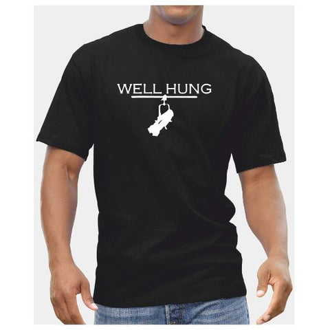 'Well Hung'  Mens Cotton T-Shirt