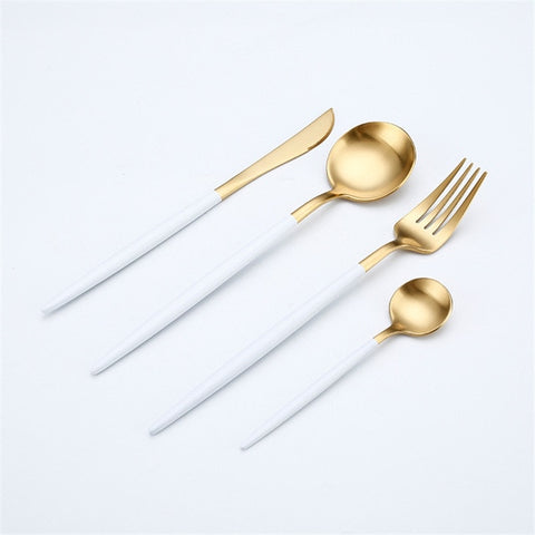 Beautiful Stainless Steel Cutlery Sets - Gorgeous Color Choices