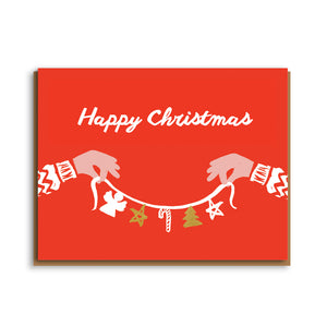 Letterpress - Happy Christmas Garland