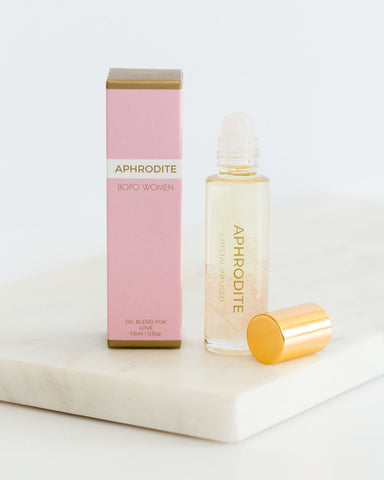 Crystal Infused Essential Oil Perfume Roller - Aphrodite