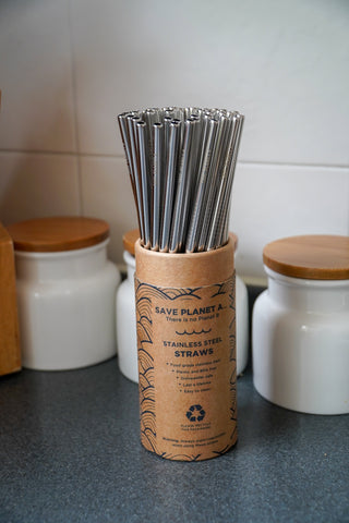 Straight Stainless Steel Reusable Drinking Straws