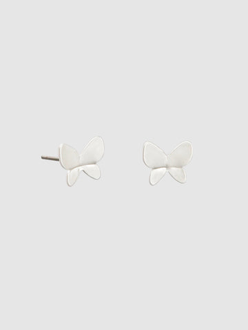 Silver Kyoto Butterfly Studs