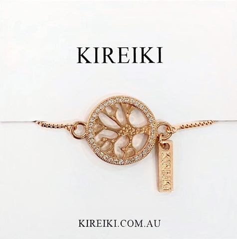 Tree of Life Rose Gold Bracelet