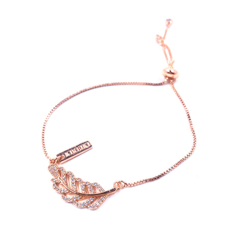 Leaf Rose Gold Bracelet