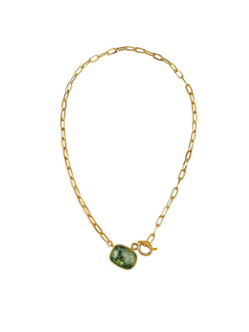 Green Forest Fob Chain Necklace
