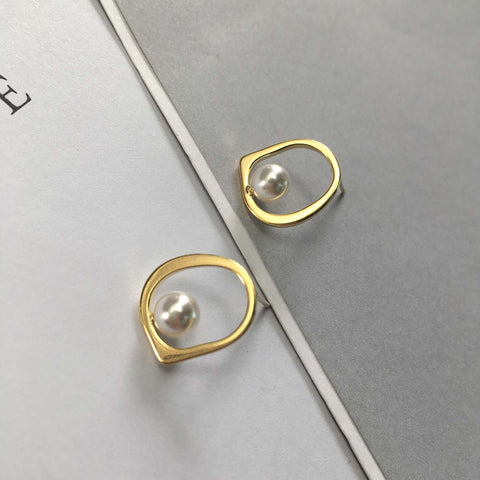 Studded Halo Earrings - Gold