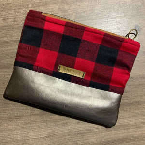 Buffalo and Vinyl Notions Pouch