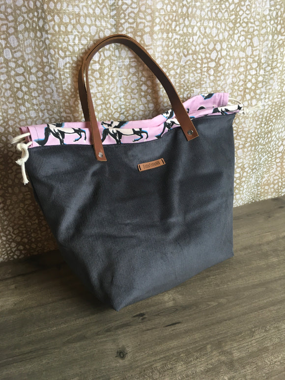 Mustang and Corduroy Barstow Bag Tote