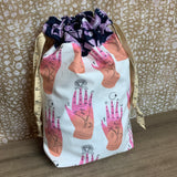 Palm Reading Drawstring Project Bag