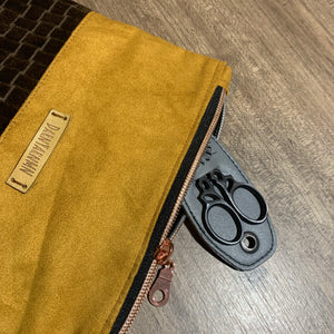 Soft Suede and Velvet Notions Pouch