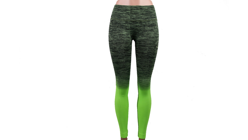 Ombre Fusion Green Workout Leggings