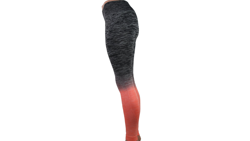 Ombre Fusion Coral Workout Leggings