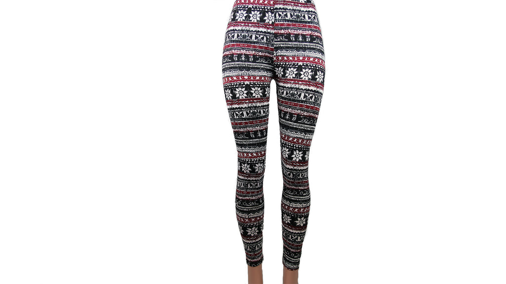 Snowflake Fleece Lined Leggings
