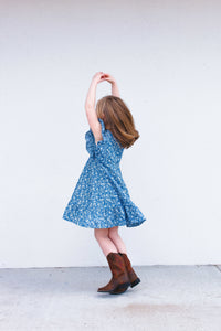 little girls chambray dress